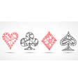 Hand drawn sketched Playing cards poker blackjack vector image