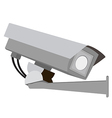 Security camera on white background vector image vector image