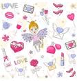 Love set icon vector image