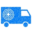 Shooting Gallery Truck Grainy Texture Icon vector image