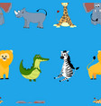 african animals seamless pattern cartoon vector image
