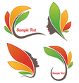leaves and faces vector image