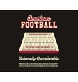 American Football university championship layout vector image