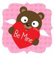 Cute Valentine bear vector image