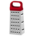 Grater with red handle vector image