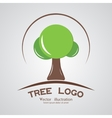 Green circle tree logotype branding wood company vector image