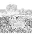High detail patterned Pomeranian dog vector image