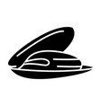 mussels icon black sign on vector image