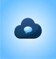Speech cloud bubble concept design vector image