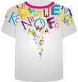 T Shirt Template- Colorful letters vector image