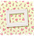 Frame on floral background vector image vector image