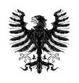 Black heraldic eagle vector image vector image