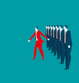 businessman leadership vector image