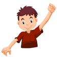 A kid wearing a red shirt vector image vector image