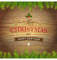 Xmas Wood Background vector image
