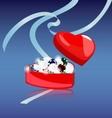 gemstones box vector image vector image
