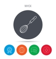 Whisk icon Kitchen tool sign vector image