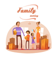 Family Moving In Cartoon vector image