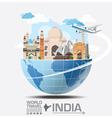 India Landmark Global Travel And Journey vector image