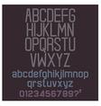 Alphabet retro set vector image