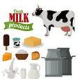 dairy milk products organic drink healthy cream vector image