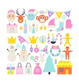 Merry Christmas Cute Objects vector image