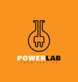 power lab logo vector image