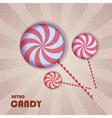 retro candy vector image