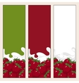Set of Vertical Banners with Berry Strawberry vector image