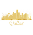 Dallas City skyline golden silhouette vector image