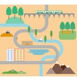 Country road in flat design style vector image