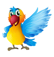 A cheerful parrot vector image