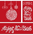 New year cardsLettering typography elementsRed vector image