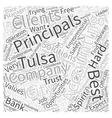 Accounting Principals and Tulsa Word Cloud Concept vector image