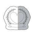 sticker monochrome with half shadow with crown vector image