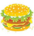 big tasty sandwich vector image vector image