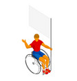 isometirc physically disabled flag bearer vector image