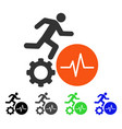 worker pulse flat icon vector image