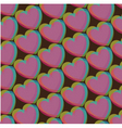 valentines heart pattern vector image vector image