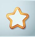 Retro cinema bulb sign star shape vector image