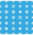 blue snowflake seamless pattern 30 various types vector image