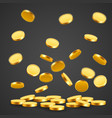 falling coins falling money flying gold coins vector image