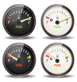 fuel gauge icons set vector image