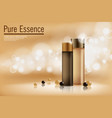 perfume contained on bronze background with soft vector image