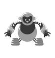 Robot cartoon icon Machine design graphic vector image