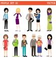 Set of modern people vector image