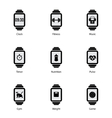 Smart watch with fitness icons vector image