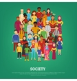 Society Concept vector image