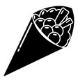 Sushi food icon simple black style vector image