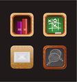 wood web icon app vector image
